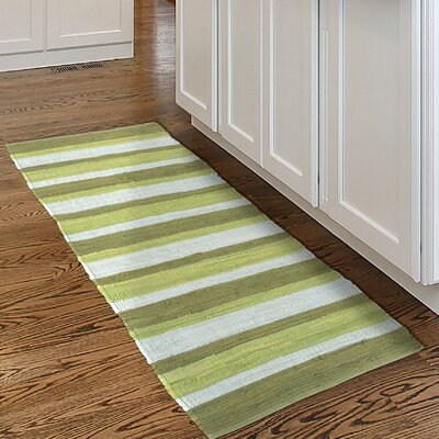 Chindi Hand-Woven Green/Gray Area Rug Rug Size: Runner 2 x 54