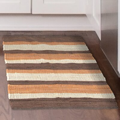 Chindi Hand-Woven Beige/Orange Area Rug Rug Size: 19 x 210