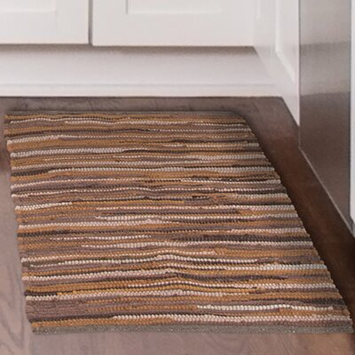 Chindi Tonal Hand-Woven Brown/Beige Area Rug Rug Size: 19 x 210
