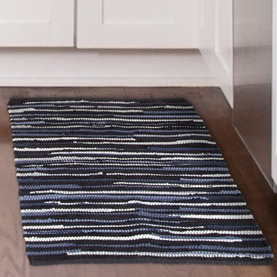 Chindi Tonal Hand-Woven Blue/Gray Area Rug Rug Size: 19 x 210