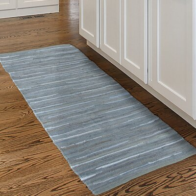 Chindi Tonal Hand-Woven Gray/Blue Area Rug Rug Size: 2 x 5