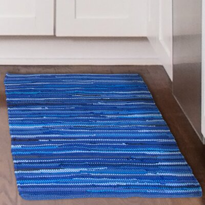 Chindi Tonal Hand Woven Blue Area Rug Rug Size: Rectangle 23 x 39
