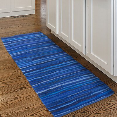 Chindi Tonal Hand Woven Blue Area Rug Rug Size: Rectangle 2 x 5