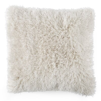 Shag Floor Pillow Color: Beige