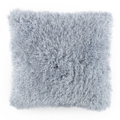 Billawock Shag Floor Pillow Color: Blue