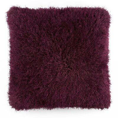Shag Floor Pillow Color: Burgundy
