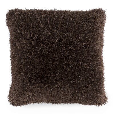 Billawock Shag Floor Pillow Color: Chocolate
