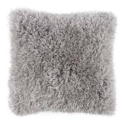 Shag Floor Pillow Color: Gray