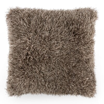 Shag Floor Pillow Color: Mocha