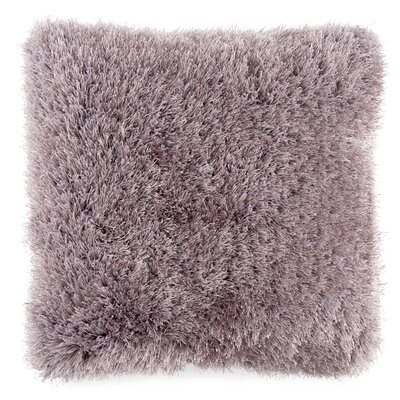 Billawock Shag Floor Pillow Color: Purple