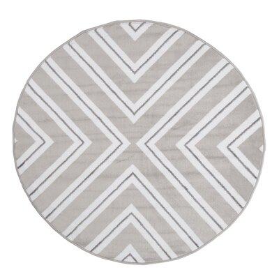 Kaleidoscope Gray Area Rug Rug Size: 5 Round