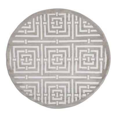 Athens Gray Area Rug Rug Size: 5 Round