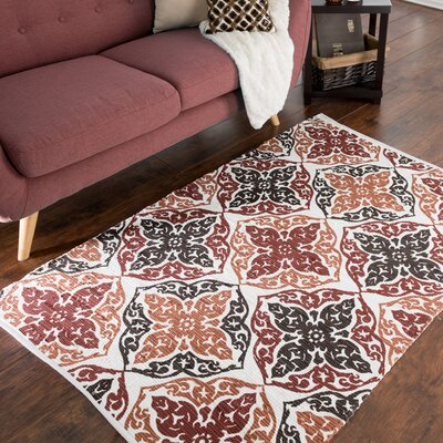 Chindi Hand-Woven Red/Orange Area Rug
