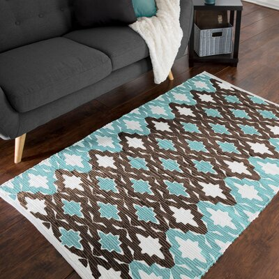 Chindi Hand-Woven Blue/Brown Area Rug