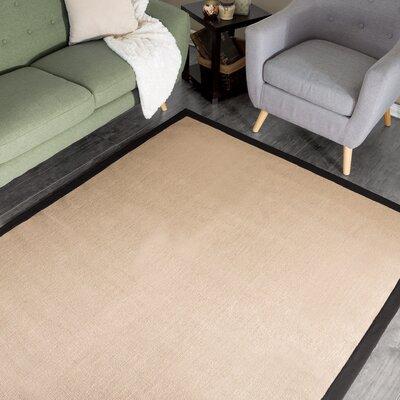Hand-Woven Beige Area Rug Rug Size: 8 x 10