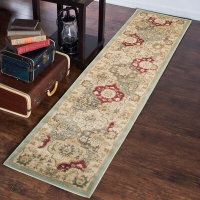 Green Area Rug Rug Size: Runner 18 x 7