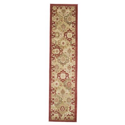 Red Area Rug Rug Size: Runner 18 x 7
