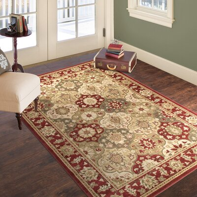 Red Area Rug Rug Size: 33 x 5