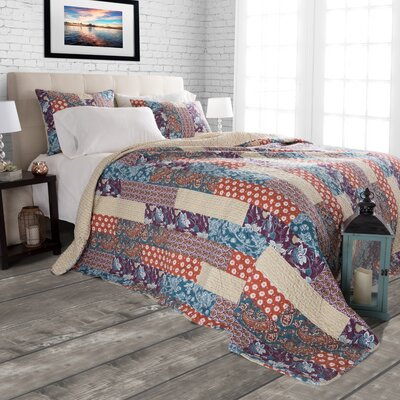 Santa Fe Reversible Quilt Set Size: King