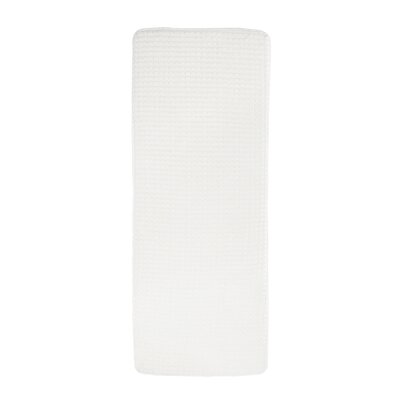 Jacquard Fleece Memory Foam Long Bath Rug Color: White