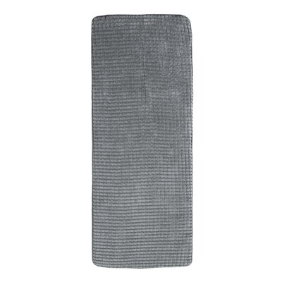 Jacquard Fleece Memory Foam Long Bath Rug Color: Platinum