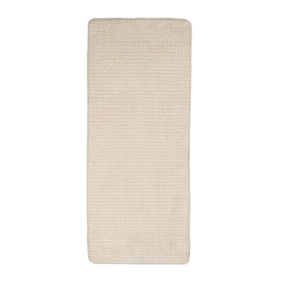 Jacquard Fleece Memory Foam Long Bath Rug Color: Ivory