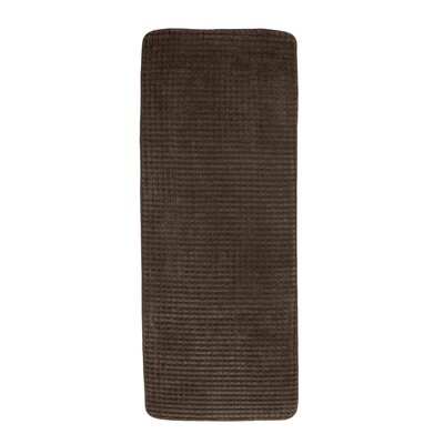 Jacquard Fleece Memory Foam Long Bath Rug Color: Chocolate