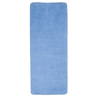 Jacquard Fleece Memory Foam Long Bath Rug Color: Blue