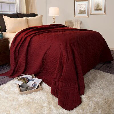 Summer Quilted Blanket Size: Twin, Color: Burgundy