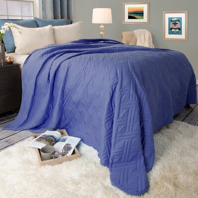 Summer Quilted Blanket Size: Twin, Color: Navy