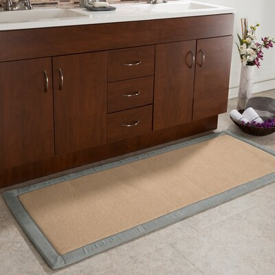 Faux Linen Fleece Long Bath Rug Color: Platinum