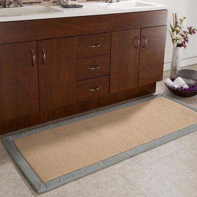 Faux Linen Fleece Long Bath Rug Color: Platinum