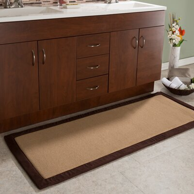 Faux Linen Fleece Long Bath Rug Color: Chocolate