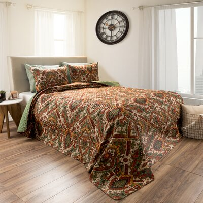 Chavers Embossed 3 Reversible Quilt Set Size: King