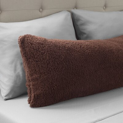 Ahmad Sherpa Pillowcase Color: Chocolate