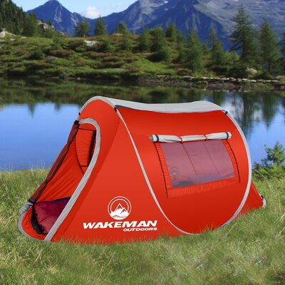 Wakeman Pop-up Barrel 2 Person Tent Color: Red