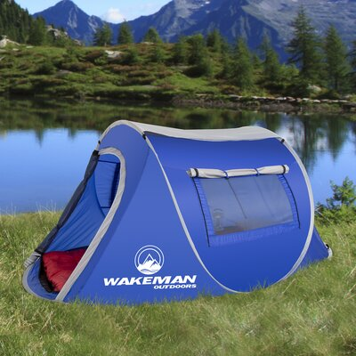 Wakeman Pop-up Barrel 2 Person Tent Color: Blue