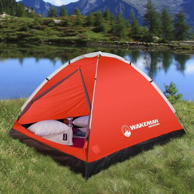 Wakeman Dome 2 Person Tent Color: Red