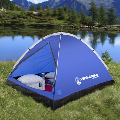 Wakeman Dome 2 Person Tent Color: Blue