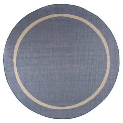 Border Blue Indoor/Outdoor Area Rug Rug Size: 8 Round