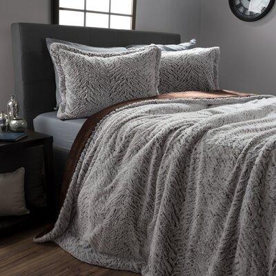 Perdita Mink 3 Piece Comforter Set Size: Queen