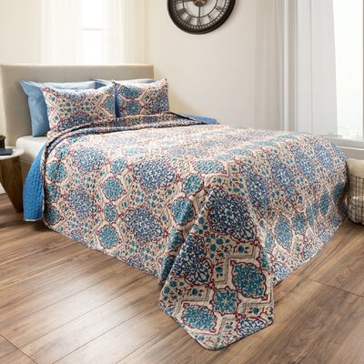 Harter Reversible Quilt Set Size: Full/Queen