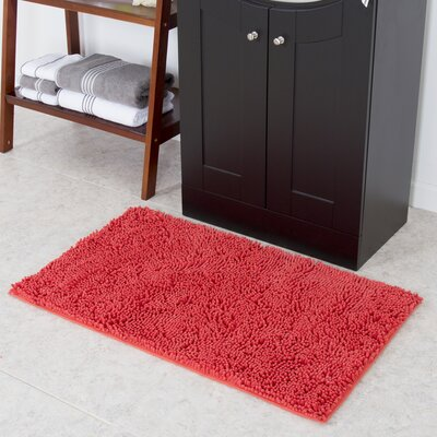 Doiphode High Pile Shag Accent Coral Area Rug
