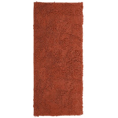 Duhaime High Pile Shag Hand-Woven Burnt/Orange Area Rug Rug Size: Rectangle 1'9