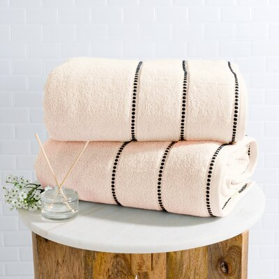 2 Piece Bath Sheet Set Color: Bone
