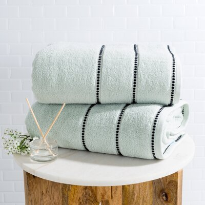 2 Piece Bath Sheet Set Color: Seafoam