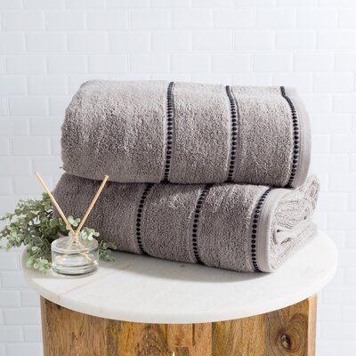 2 Piece Bath Sheet Set Color: Silver