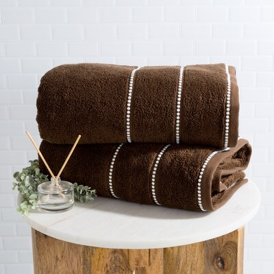 2 Piece Bath Sheet Set Color: Chocolate