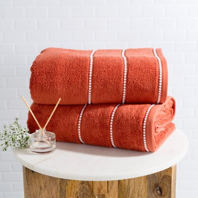 2 Piece Bath Sheet Set Color: Brick