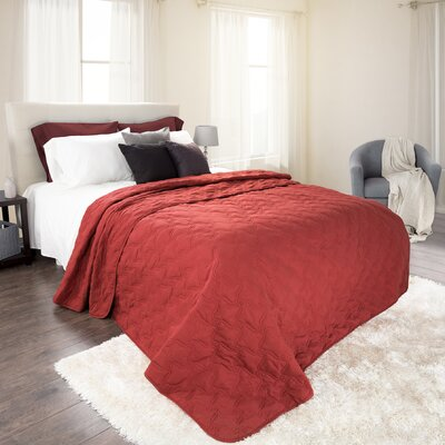 Mytsyk Solid Quilt Size: Full/Queen, Color: Burgundy